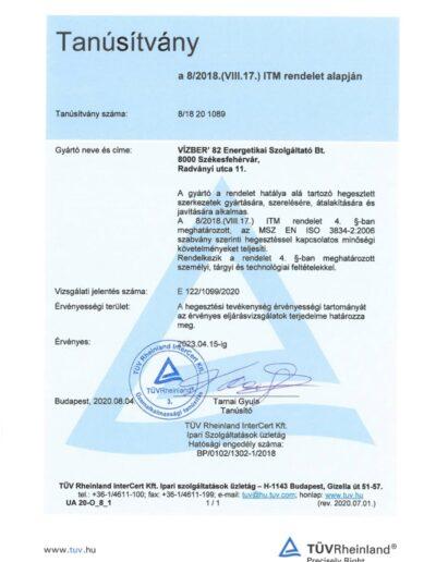 TÜV 2. tanúsítvány 8-2018(VIII.17)ITM rendelet alapján 2020.08.04.-page-001